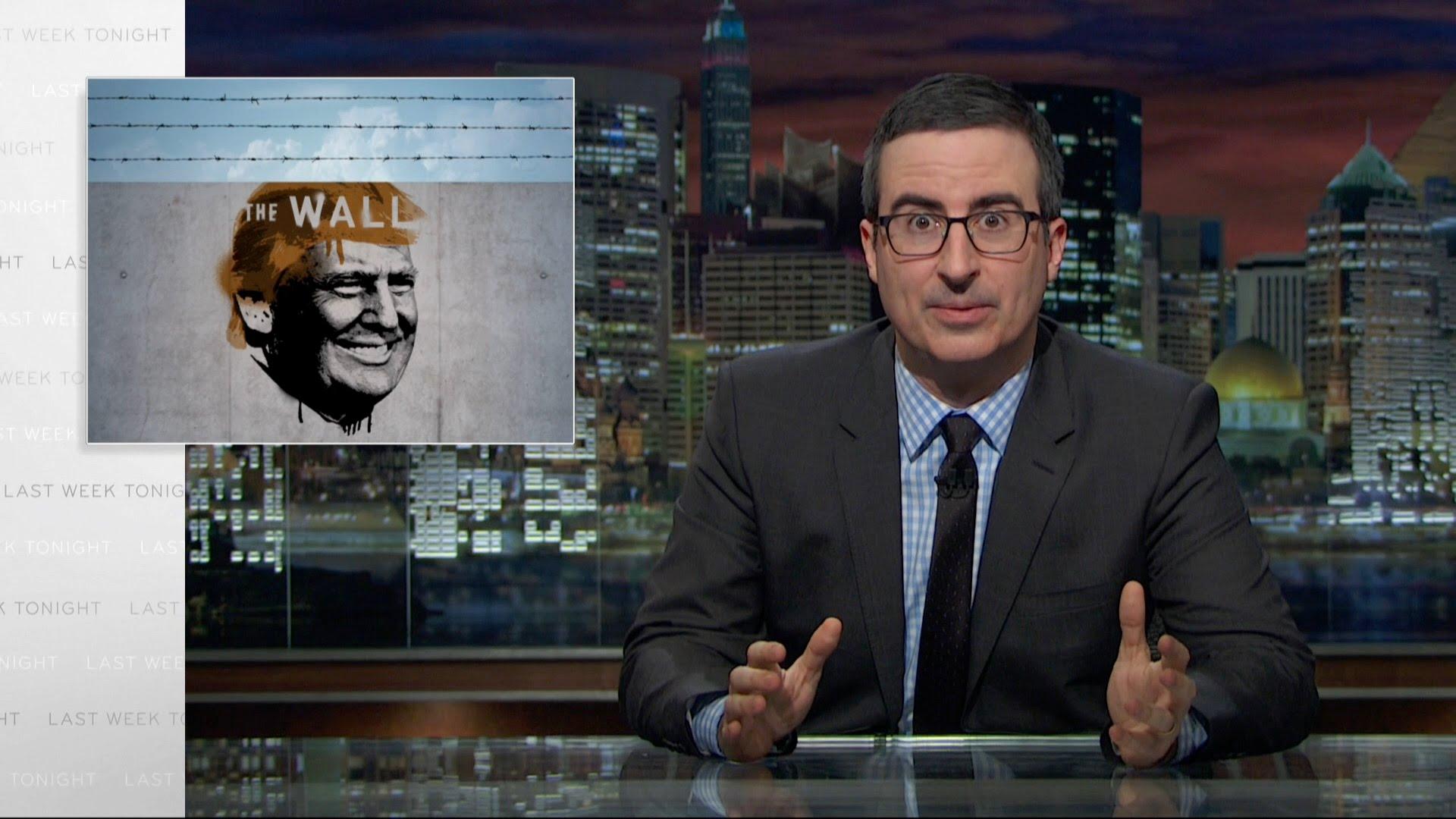 شوخی های جان اولویر با طرح احمقانه دیوار ترامپ