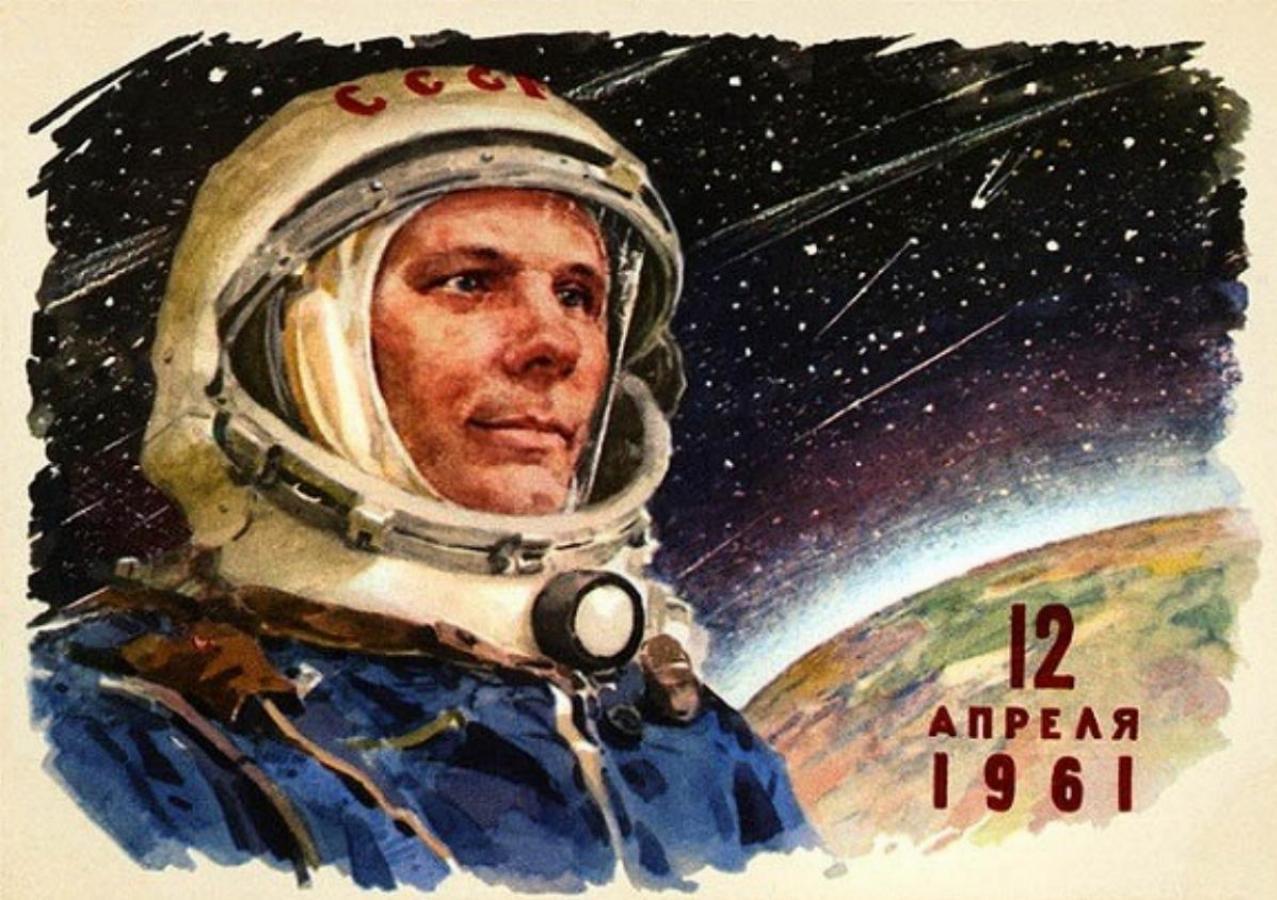 نخستین پرواز فضایی انسان توسط یوری گاگارین در سال 1961