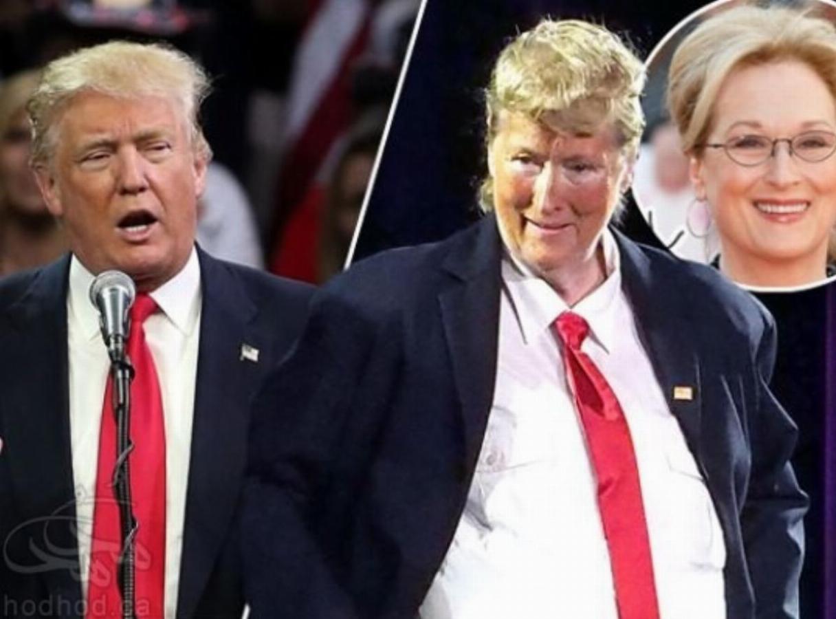 مریل استریپ در نقش دونالد ترامپ !