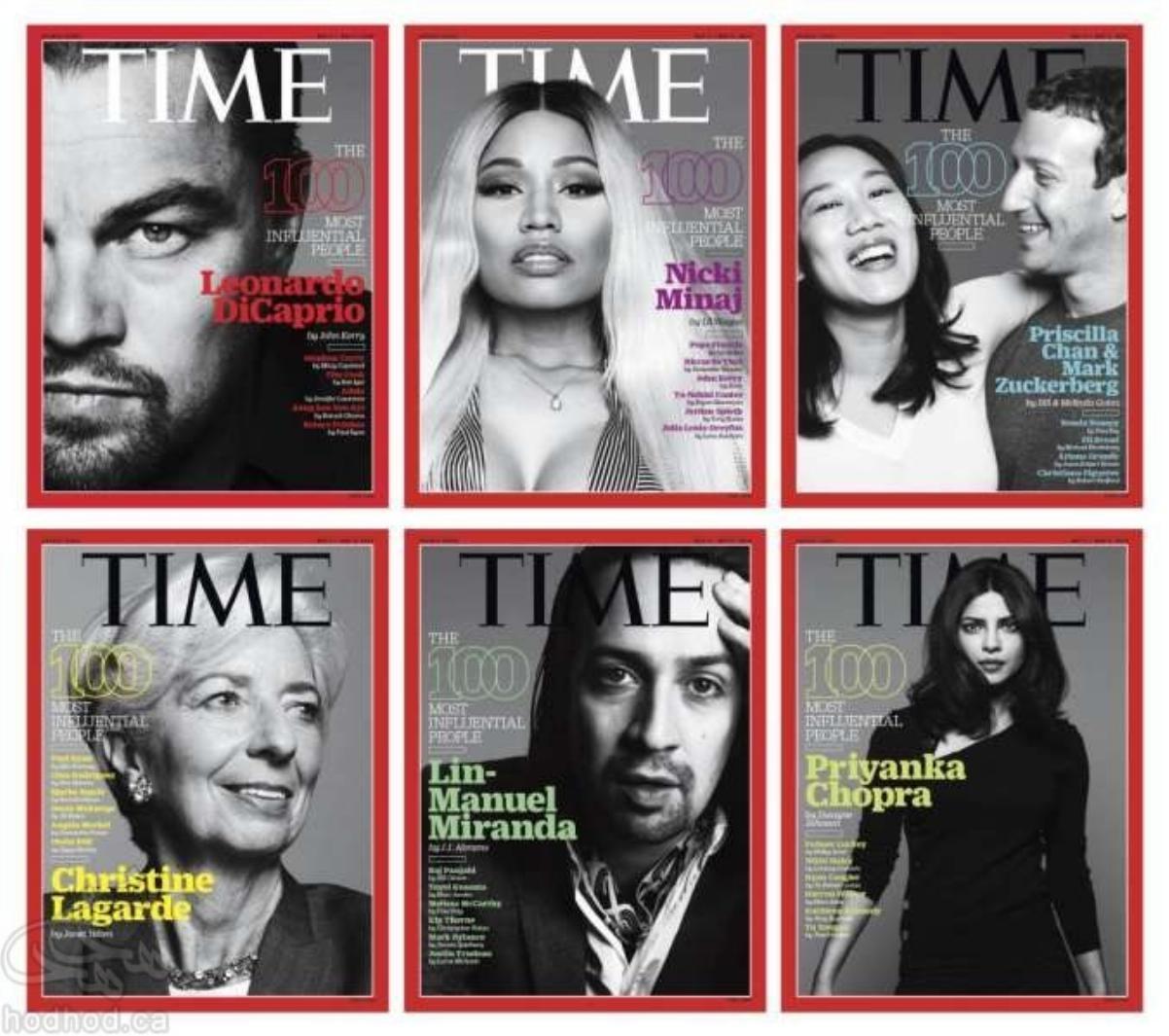 100 چهره برتر سال 2016 از نگاه مجله Time