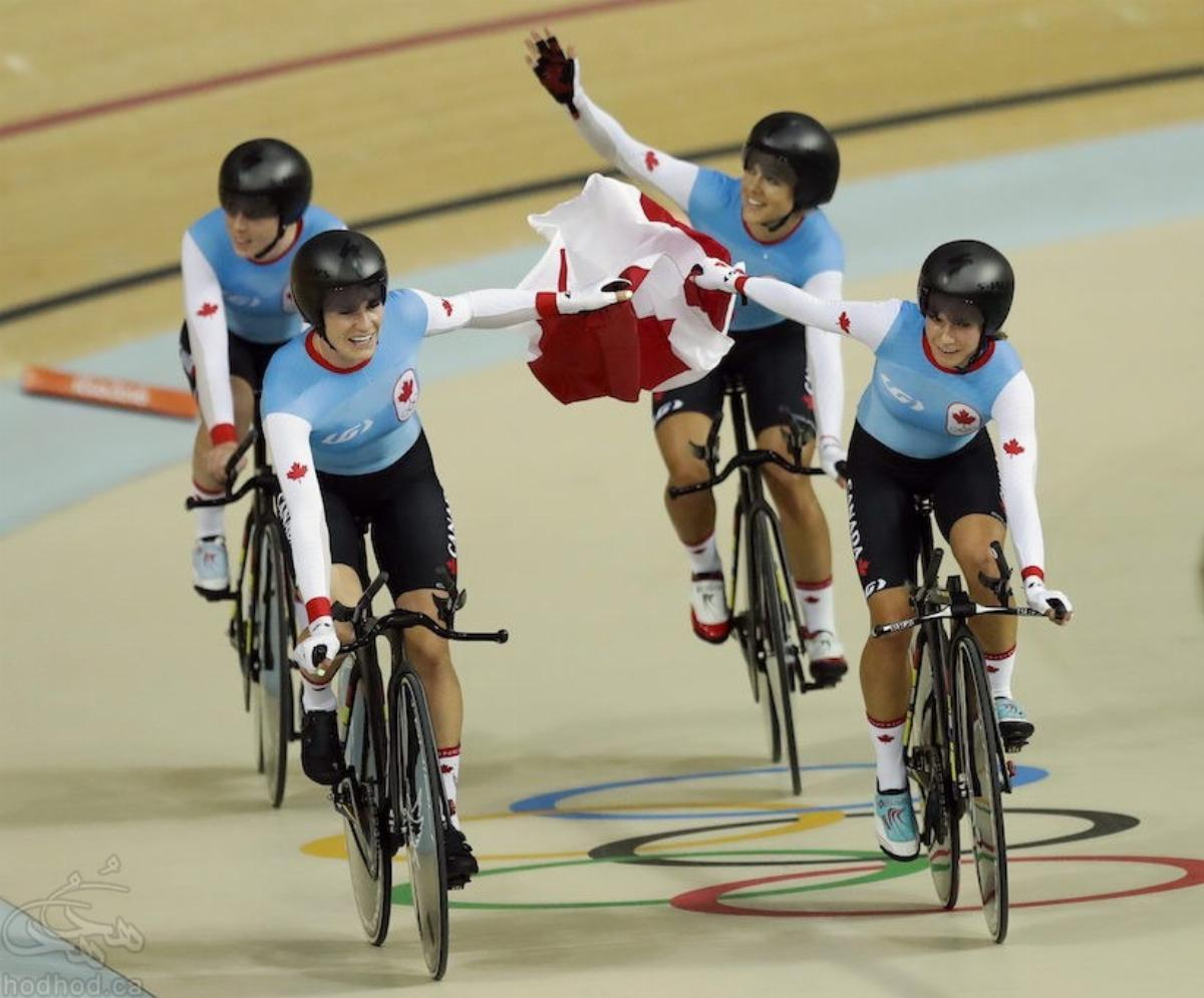 مدال دیگری برای کانادا این بار توسط تیم دوچرخه سواری بانوان