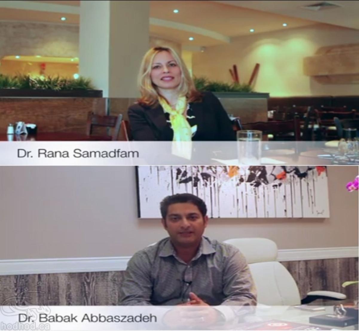 با دکتر رعنا صمدفام و دکتر بابک عباس زاده در اولین گردهمایی متخصصان ایرانی استان کبک