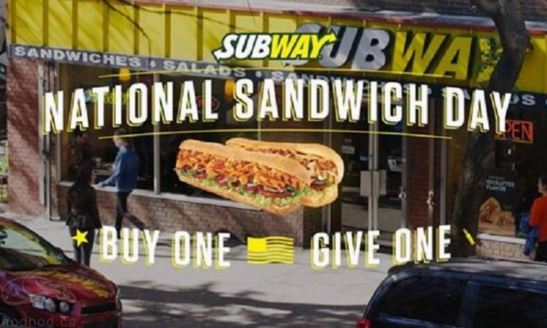 روز ملی ساندویچ در کانادا: امروز از Subway ساندویچ رایگان بگیرید!